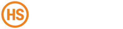 Harrison Steel Logo - White